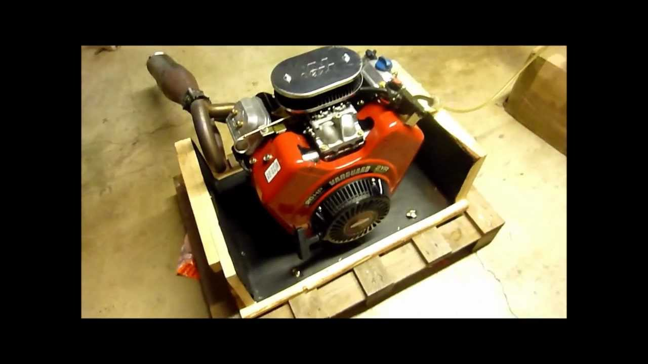 Modified Briggs&Stratton 20HP 570ccm Vanguard V-Twin test