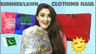 PAKISTANI SUMMER CLOTHING HAUL + Giveaway Winner Announcement | Khadeja