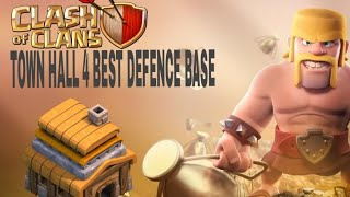 CLASH OF CLANS TOWN HALL 4 DEFENCE BASE (COC TH4 TROPHY BASE LAYOUT DEFENCE BASE 2018.....