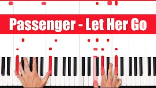 Let Her Go Passenger Piano Tutorial - EASY Mp3