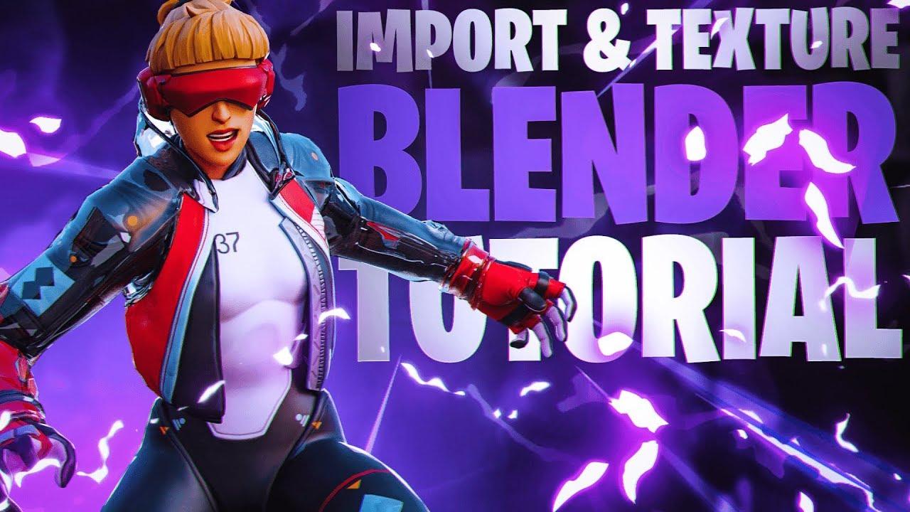 How to IMPORT & TEXTURE Fortnite skins in Blender (Thumbnail Tutorial) -  Blender