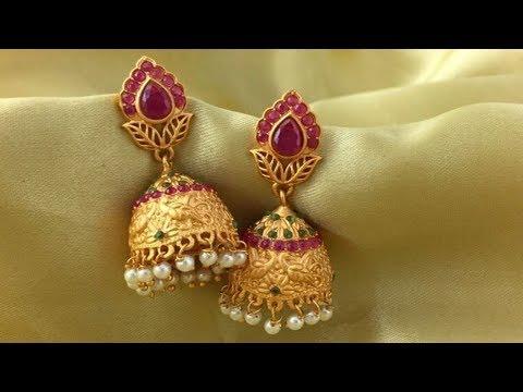 Light Weight Gold Jhumka Designs 2019 | Indian Jewellery Design 2019