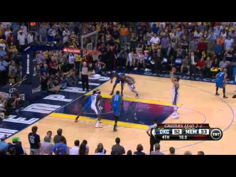 NBA Playoffs 2013: Oklahoma City Thunder Vs Memphis Grizzlies Highlights May 13, 2013 Game 4