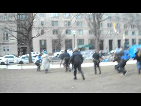 National Park Police, Law Enforcement Video of #OccupyDC. Lash gets Tased
