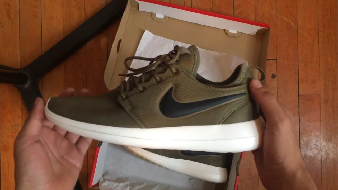 new styles b320f 51b1e Unboxing Nike Roshe Run 2 Olive Green
