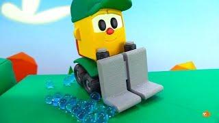 Leo's RING OF FIRE - Toy Trucks for kids - Children's Cartoons for Kids