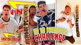 100 LAYERS OF IN-N-OUT BURGER IN 10 MINUTES CHALLENGE