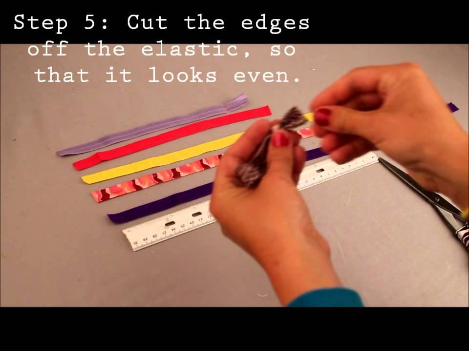 DIY Fold Over Elastic Hair Ties, Wristbands and Headbands ...