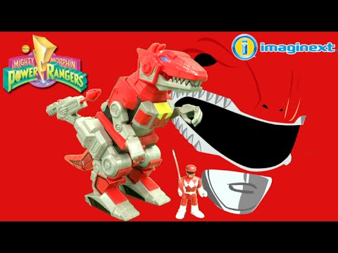 imaginext power rangers red ranger and t rex zord from fisher price youtube. Black Bedroom Furniture Sets. Home Design Ideas