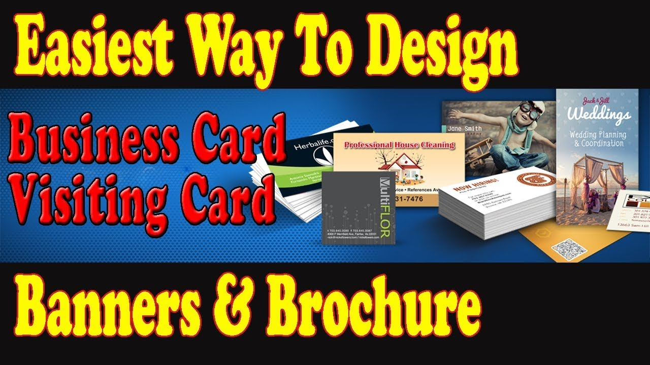 How to Design Business Card | Visiting Card | Brochure | Banner ...