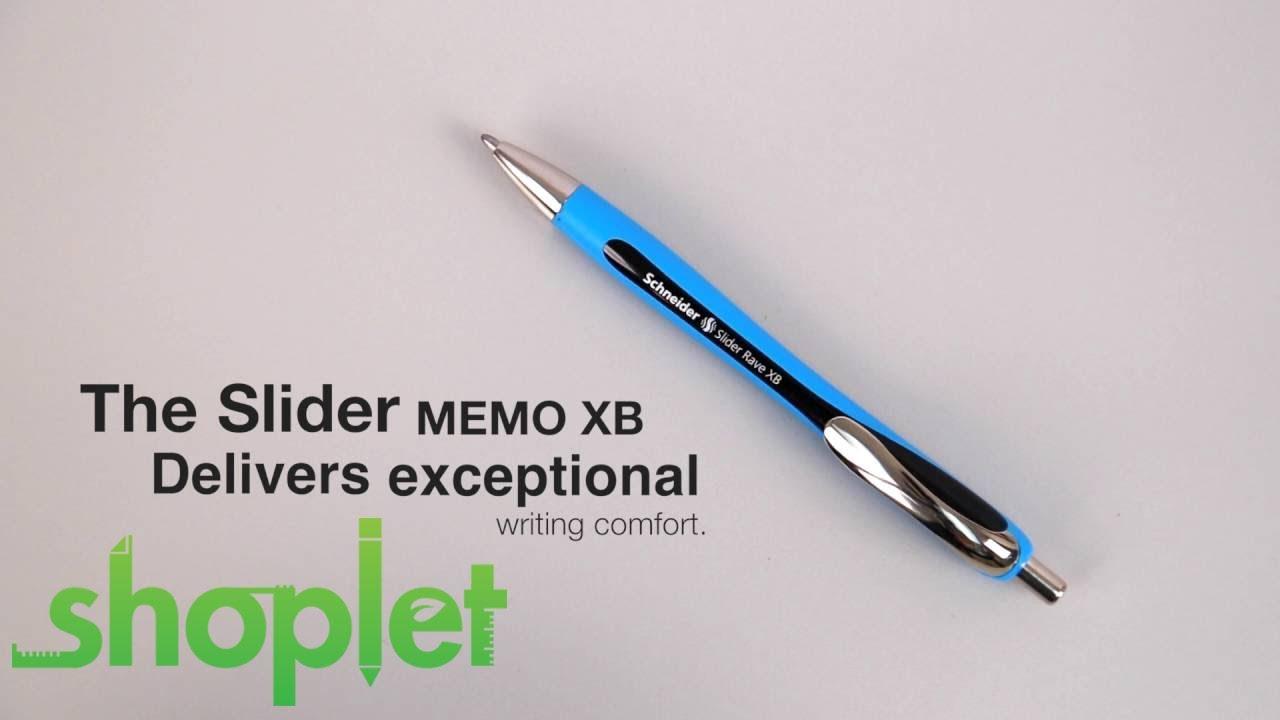 schneider slider rave xb  Schneider Slider Rave XB Retractable pen - YouTube