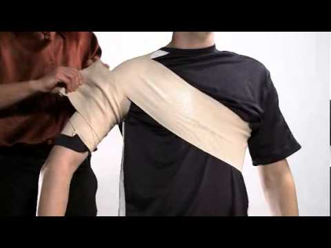 How To Wrap A Shoulder With Ace Brand Elastic Bandages Youtube