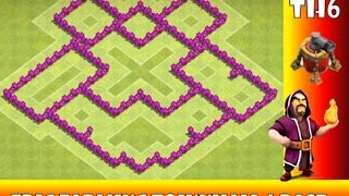 CoC best th6 farming base with air sweeper (anti-g