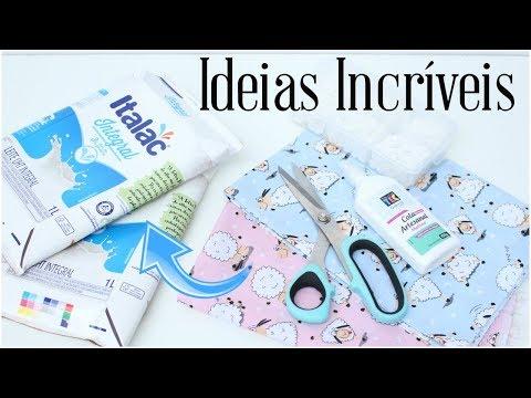 IDEIAS INCRÍVEIS COM CAIXA DE LEITE | ARTESANATO PARA FAZER E VENDER | Viviane Magalhães