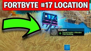 FORTBYTE 17 FOUND INSIDE A WOODEN FISH BUILDING - FORTNITE REWARDS