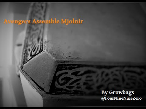 Tutorial Make Mjolnir Thors Hammer Avengers Assemble con safe Free standing on the Angle
