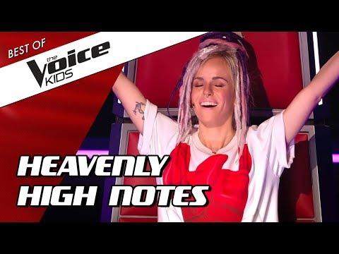 TOP 10 | INSANELY HIGH NOTES in The Voice Kids