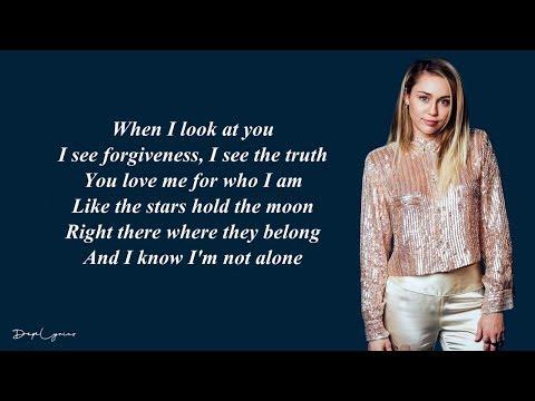 Miley Cyrus - When I Look At You (Lyrics) 🎵