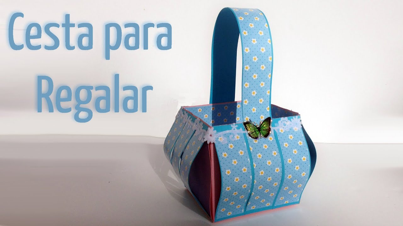 Manualidades para regalar cesta para regalos dulcero - Ideas para regalar en reyes ...