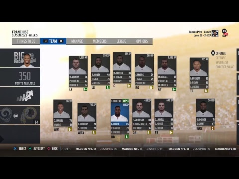 Madden League Game