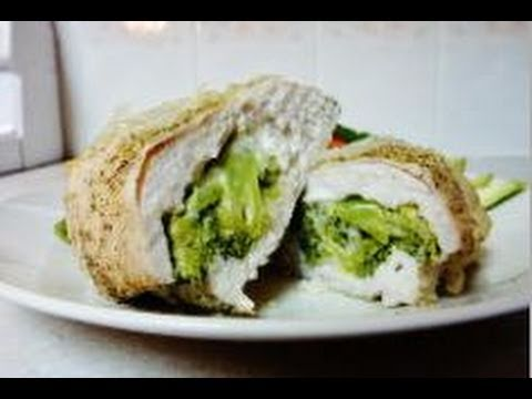 Chicken stuffed with broccoli