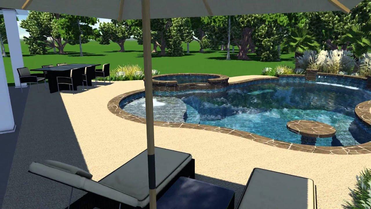 Awesome Corey Pool Design V2 By Backyard Amenities   YouTube