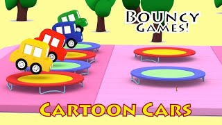 New BOUNCY GAMES! - Cartoon Cars Playground - Car Cartoons for Kids. Kids Cartoons