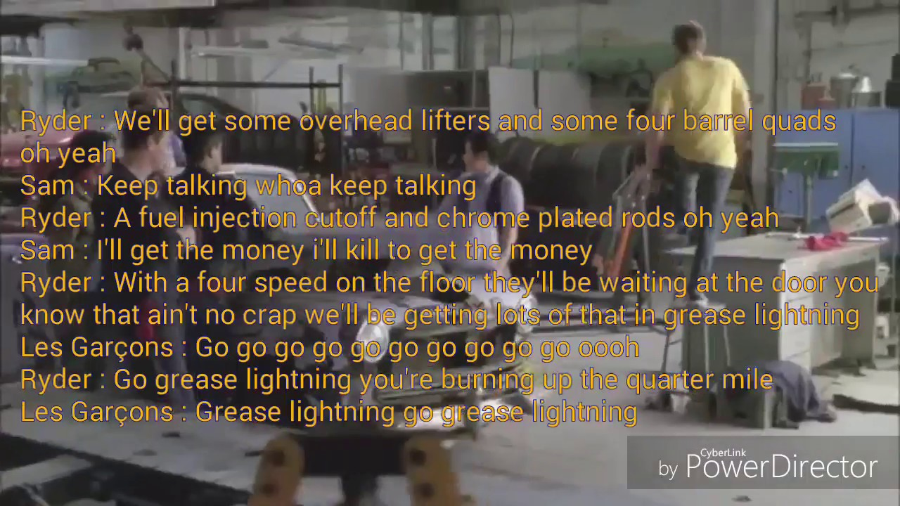 Glee Greased Lightning Lyrics Video  sc 1 st  YouTube & Glee Greased Lightning Lyrics Video - YouTube azcodes.com