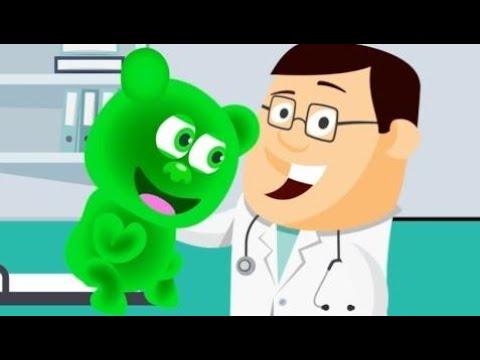 Mega Gummy Bear visit the doctor finger family song videos for kids
