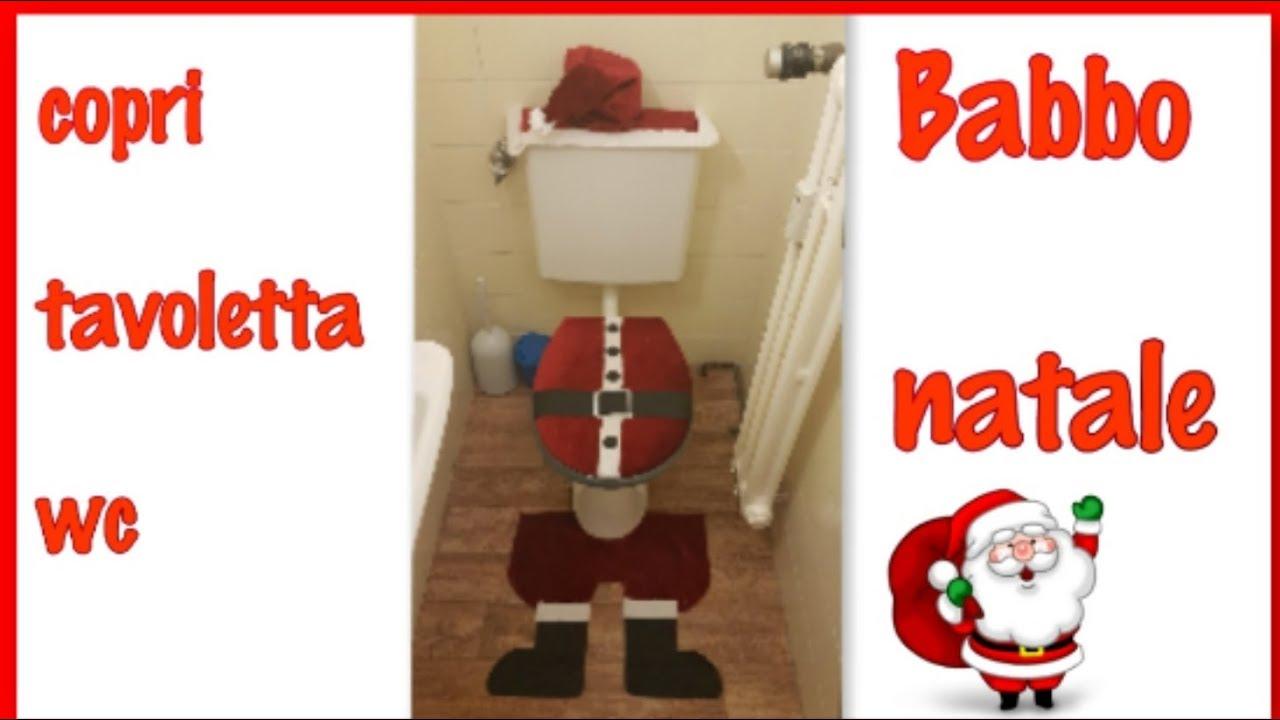 Copri Wc Babbo Natale.Copri Tavoletta Wc Babbo Natale Youtube