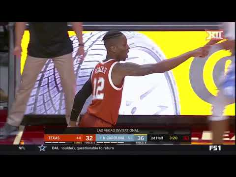 Texas vs. North Carolina Men's Basketball Highlights