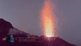 Stromboli close up eruptions