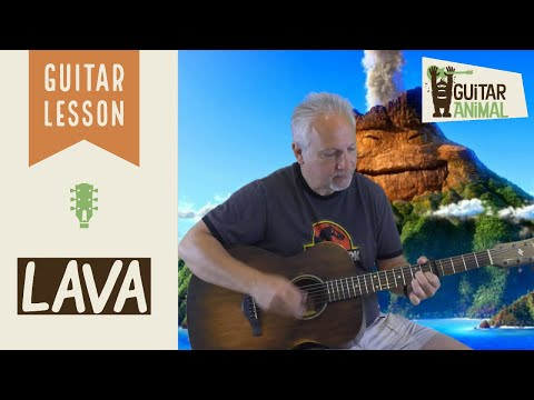 How to Play Lava from the Disney Pixar Short Film - Guitar Lesson