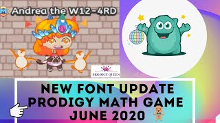 Hi guys, in this video i will be sharing the new fonts update which prodigy just released today june, 2020.please hit like button and don't forget to...