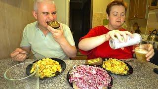 Рецепт ИДЕАЛЬНОЙ жареной картошки Как ПРАВИЛЬНО пожарить МУКБАНГ картошка селедка и пиво