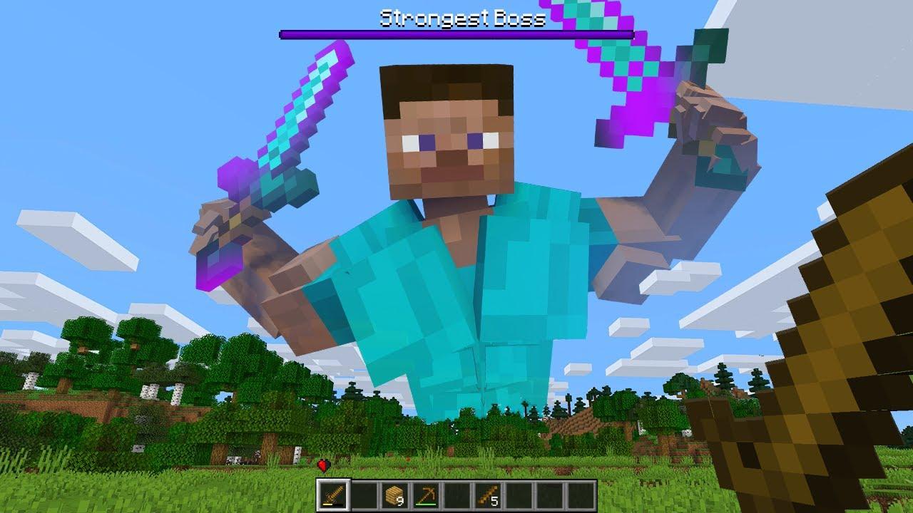 WEAKEST vs STRONGEST MAN in Minecraft!