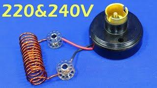 Free Electricity Generator 240V CFL Light Bulb AC Electric Generator New 2019