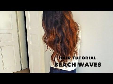 Summer Beach Waves Hair Tutorial - YouTube