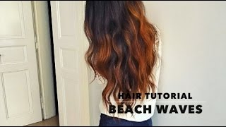 Summer Beach Waves Hair Tutorial