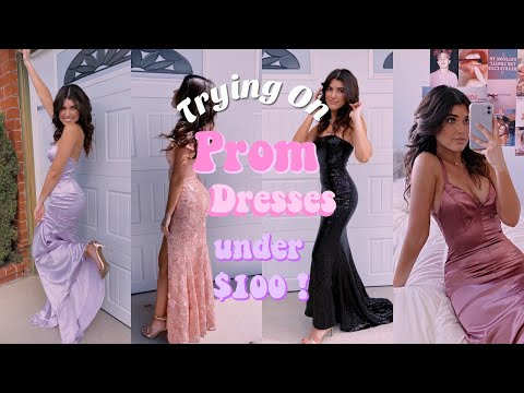trying-on-prom-dresses-under-$100!-ft-lulus