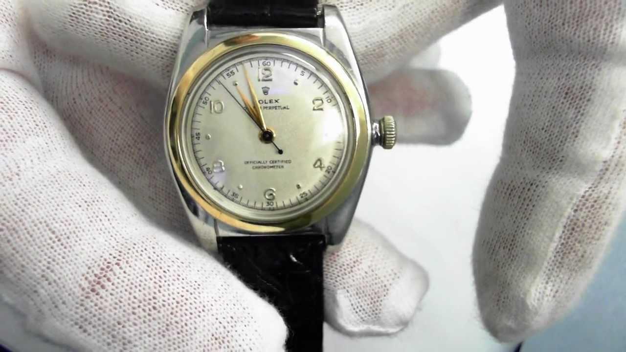 Vintage (Circa1948) Rolex Bubbleback Ref. 5010