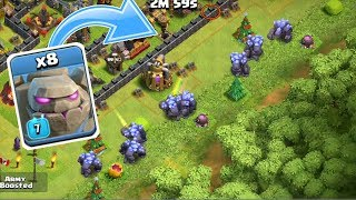 When You Attack With All Golems - Mass Golem Raid TH8,TH9,TH10,TH11 - Clash of Clans