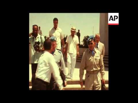 SYND 19-8-70 UN CHIEF OBSERVER, MAJOR GENERAL ENSIO SIILVASVUO, ARRIVES IN CAIRO
