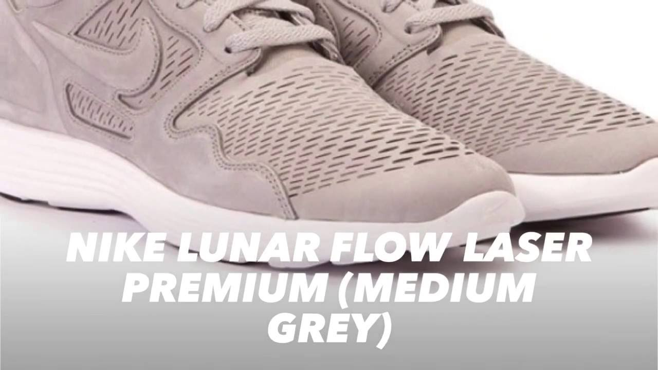 cce1cf55ef91 NIKE LUNAR FLOW LASER PREMIUM (MEDIUM GREY)   S SNEAKERS - YouTube