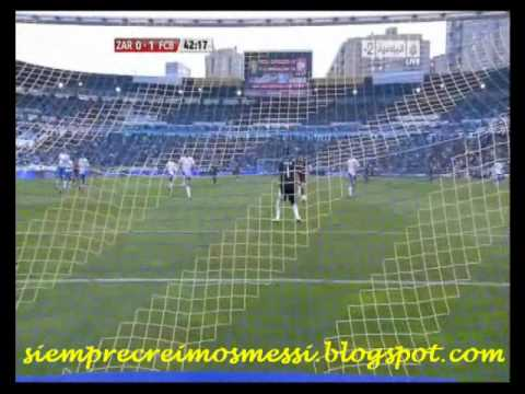 Lionel Messi vs Zaragoza goles Liga española