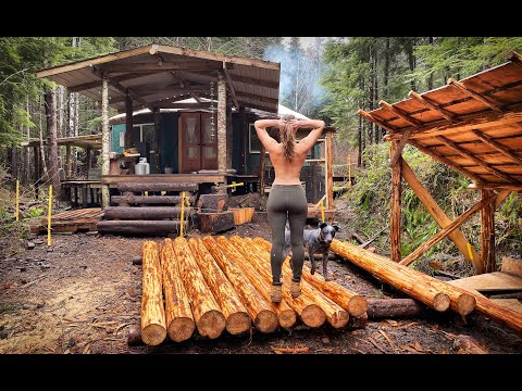 off-grid-wilderness-yurt-living-|-bicycle-generator,-build-a-log-cabin,-off-grid-laundry---ep.-78