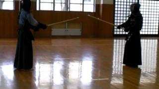 2011/05/22 三保剣道クラブ稽古 加村先生 VS 村山先生.
