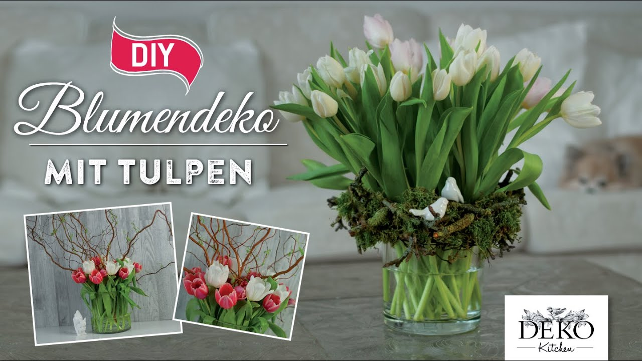 How To Hubsche Fruhlings Blumendeko Mit Tulpen Deko Kitchen Youtube