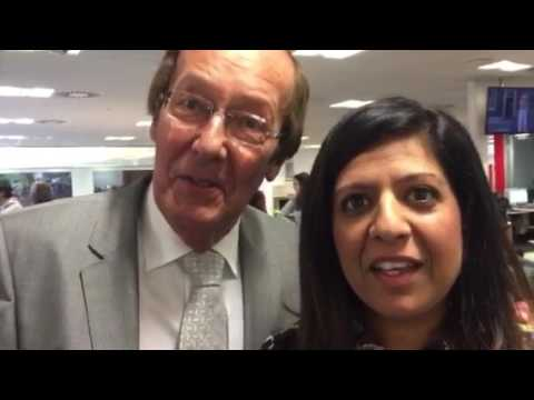 Fred Dinenage and Sangeeta Bhabra react to their DNA test on ITV News Meridian