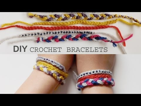 Diy 3 Easy Crochet Friendship Bracelet Tutorials Youtube